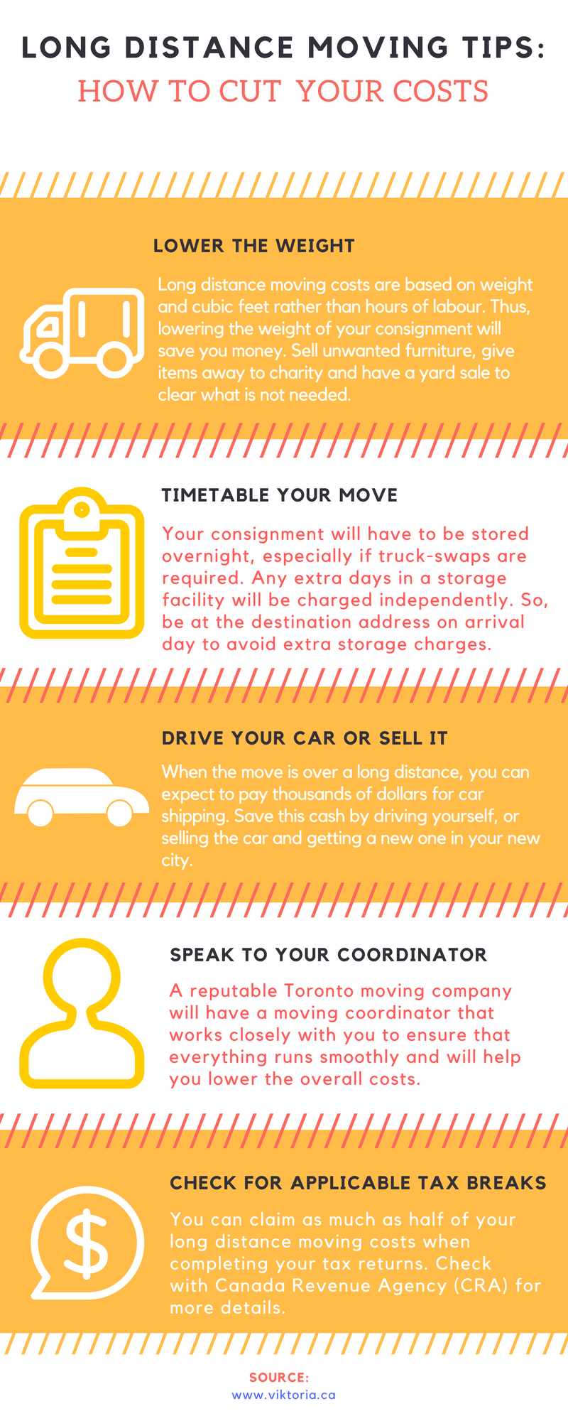 Europa Movers Toronto - Long Distance Moving Tips Infographic
