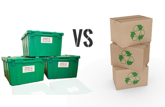Plastic Moving Boxes vs. Cardboard Boxes Toronto - Toronto Movers